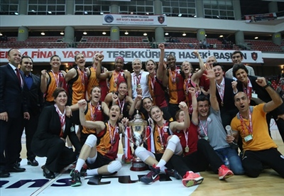 Bahar Caglar and Seda Deniz are new Turkish Champions with their club Galatasaray Odeabank